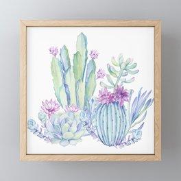 Mixed Cacti White #society6 #buyart Framed Mini Art Print