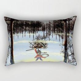 A moment of triumph Rectangular Pillow