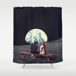 We Used To Live There Shower Curtain