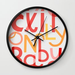 Exit Only, Baby Wall Clock