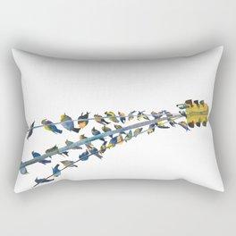 Birds on traffic lights Rectangular Pillow