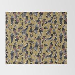 Birds of Prey in Gold Throw Blanket