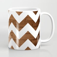Chevron Wood Mug