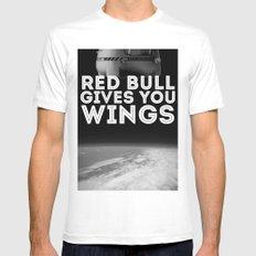 Felix Baumgartner Wings MEDIUM Mens Fitted Tee White
