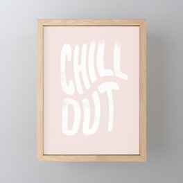 Chill Out Vintage Pink Framed Mini Art Print