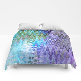Charming Distractions, Abstract Art Waves Comforters