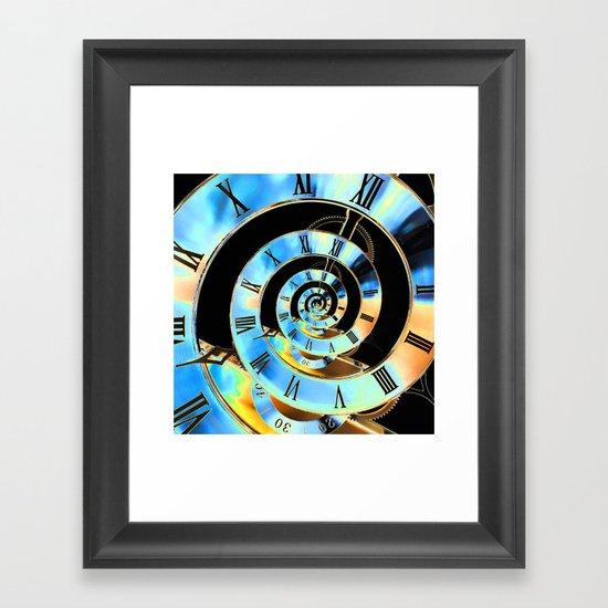 Infinite Time Blue Framed Art Print