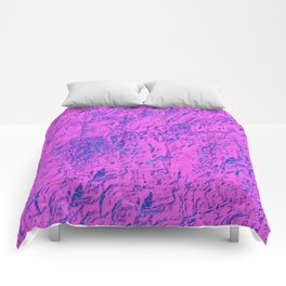 Textured Pink And Blue Comforters