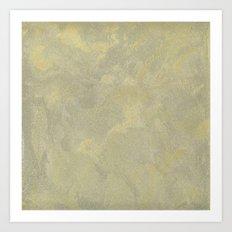 Modern Masters Metallic Plaster - Aged Gold and Silver Fox - Custom Glam Art Print