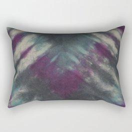 Tie Dye Purple Black Turquoise Rectangular Pillow
