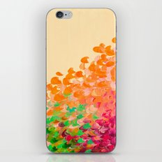 CREATION IN COLOR Autumn Infusion - Colorful Abstract Acrylic Painting Fall Splash Ombre Ocean Waves iPhone & iPod Skin