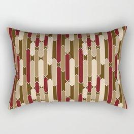 Modern Tabs in Brown, Burgundy and Tan Rectangular Pillow