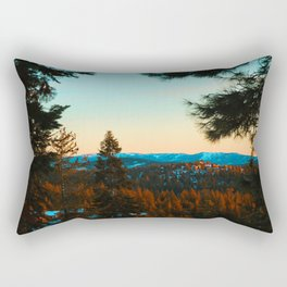 Snowy Truckee Surnise Rectangular Pillow