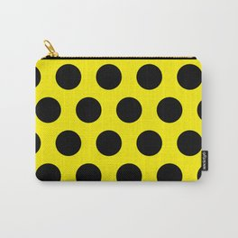 Black Circles on Yellow Background Carry-All Pouch