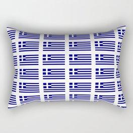 Flag of greece -Greek, Ελλάδα,hellas,hellenic, athens,sparte,aristotle. Rectangular Pillow