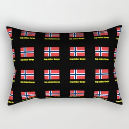 flag of norway 5 snow,scandinavia,scandinavian,norwegian,oslo Rectangular Pillow