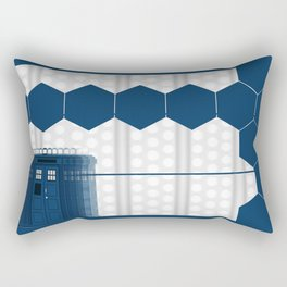 Tardis Shadow Blue Box Rectangular Pillow