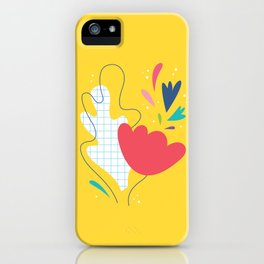 Abstract flower and leaves bouquet iPhone Case
