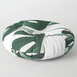 Monstera, Leaves, Plant, Green, Scandinavian, Minimal, Modern, Wall art Floor Pillow