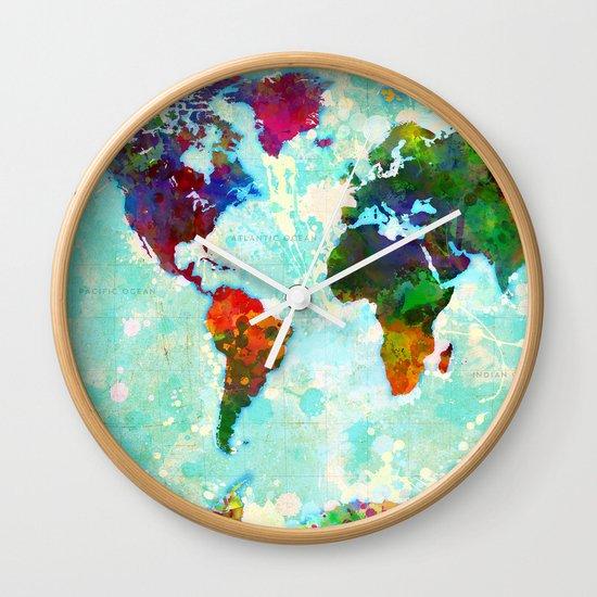 World Map - 1 Wall Clock