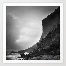 Iceland Cliffs Art Print