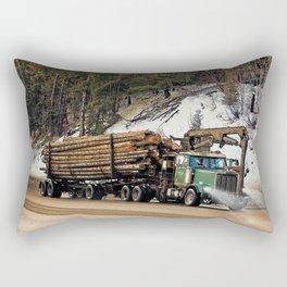 I Log In - I Log Out Rectangular Pillow
