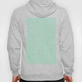 Hand Knit Mint Hoody