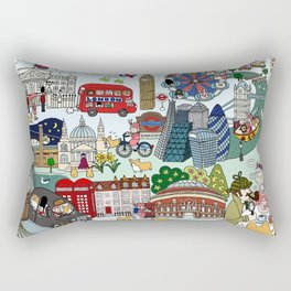 The Queen's London Day Out Rectangular Pillow