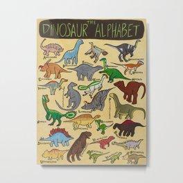 The Dinosaur Alphabet Metal Print