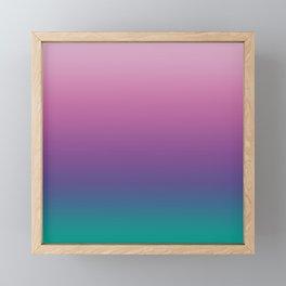 Pastel Gradient Pink Lavender Ultra Violet Arcadia Pattern | Pantone colors of the year 2018 Framed Mini Art Print