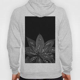 Gray Black Agave with Black Silver Glitter #2 #shiny #tropical #decor #art #society6 Hoody