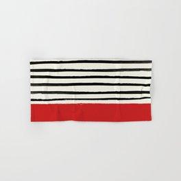Red Chili x Stripes Hand & Bath Towel