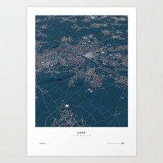 Lens - City Map Art Print