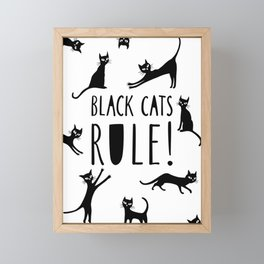 Poster with black cats Framed Mini Art Print