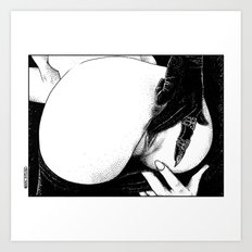 asc 582 - Le gant de velours (The velvet glove) Art Print