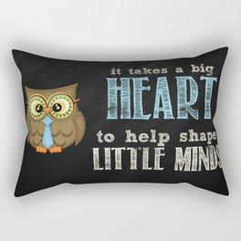 Big heart blue Rectangular Pillow