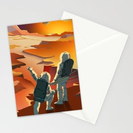 NASA Mars Recruitment Poster - Surveyors Wanted Stationery Cards