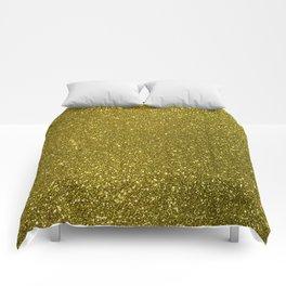 Classic Bright Sparkly Gold Glitter Comforters