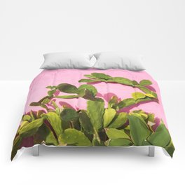 Pink Wall/Green Cactus  Comforters