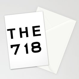 718 New York City Area Code Typography Stationery Cards
