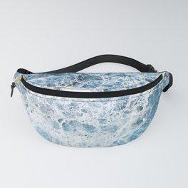 Sea foam blue marble Fanny Pack