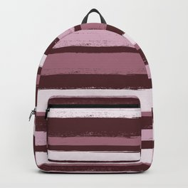 Stripes - Pink Rose Wine Backpack