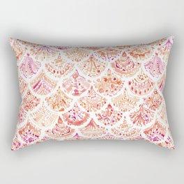 UNDERTOW Coral Mermaid Scales Rectangular Pillow