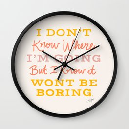 Bowie Quote - Neutral Palette Wall Clock