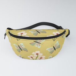 Butterflies and Flowers Pattern Fanny Pack