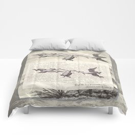 Fable of the Ducks and the Turtle Queen Comforters