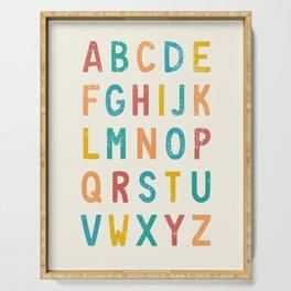Vintage Alphabet ABCs Serving Tray