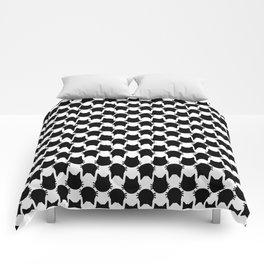 Graphic Black Cats Comforters