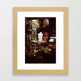 Retro shop Framed Art Print