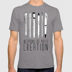 weapons of mass creation Mens Fitted Tee Tri-Grey MEDIUM